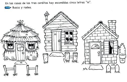Casa De Los Tres Cerditos Para Colorear