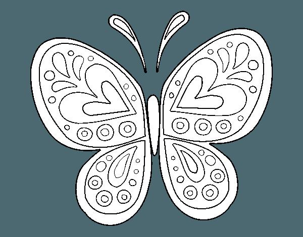 Dibujo De Mandala Mariposa Para Colorear …