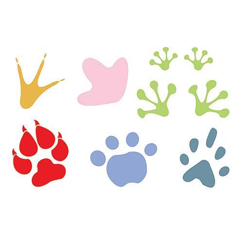 Imagenes De Huellas De Animales Para Colorear