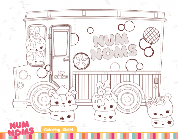Free Num Noms Coloring Pages & Activities For Kids