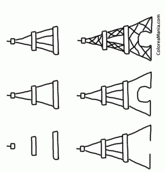 Colorear Cómo Dibujar A Torre Eiffel (cómo Dibujar Casas Y