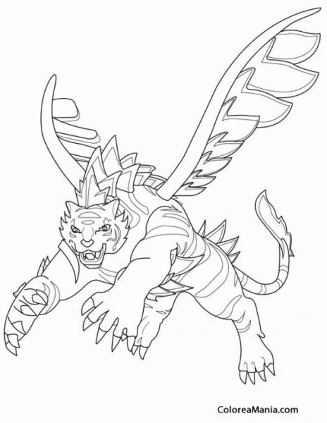Dibujos Para Colorear De Invizimals Tigershark