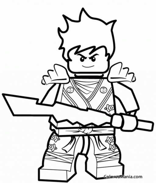 Colorear Lego Ninjago 7 (ninjago), Dibujo Para Colorear Gratis