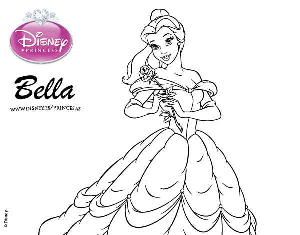Dibujo De La Bella Y La Bestia