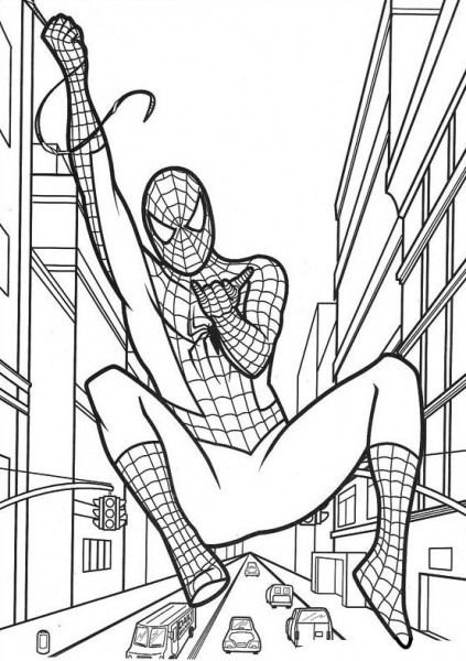 Spiderman , Dibujos Para Imprimir Y Colorear Lamina 4