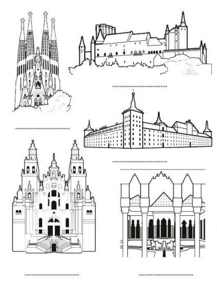 España  Dibujo Para Colorear E Imprimir