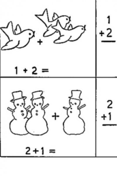 Dibujo De Sumas Matematicas Para Colorear Y Pintar