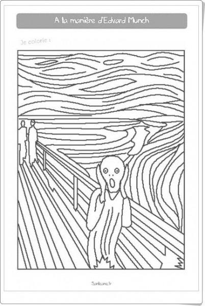 Cuadernillo De Pinturas Famosas Para Colorear (sanleane Fr