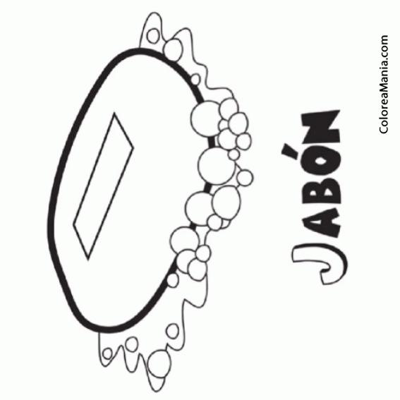 Colorear Jabón Para Lavar Las Manos 2 (el Baño), Dibujo Para