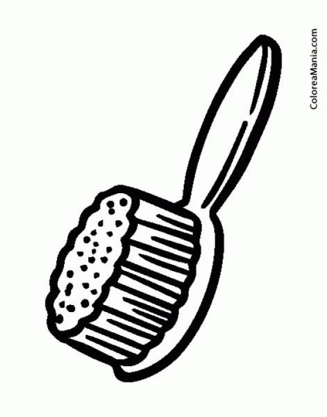 Colorear Cepillo Para El Pelo (el Baño), Dibujo Para Colorear Gratis
