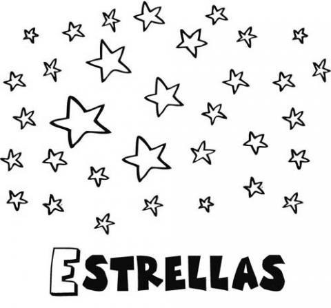 Dibujo Gratuito De Estrellas Para Pintar  Dibujos Infantiles Del