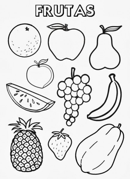 Recursos Para Educación Inicial  Frutas Y Verduras Para Colorear