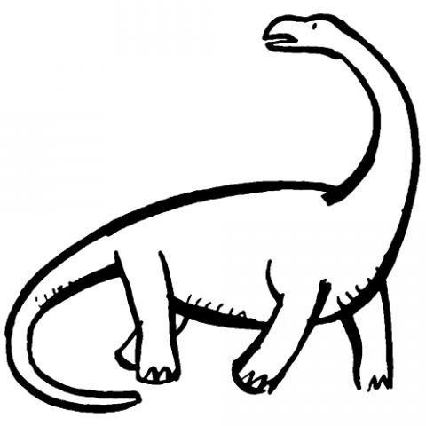 Dibujo De Dinosaurio Para Imprimir Y Pintar  Dibujos De Animales