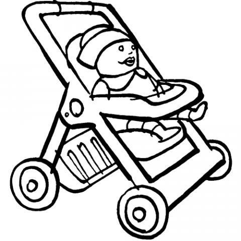 Carrito De Muñecas  Dibujos Infantiles Para Colorear
