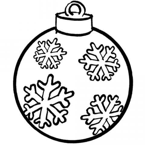 Bola De Navidad  Dibujo Gratis Para Niños
