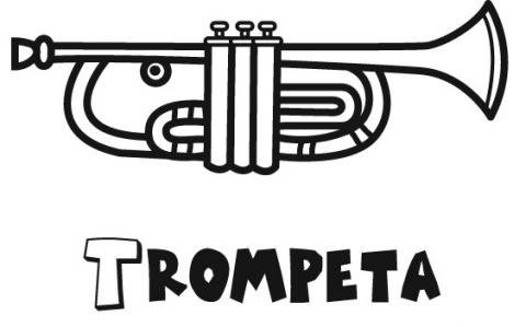Trompeta  Dibujos Para Colorear