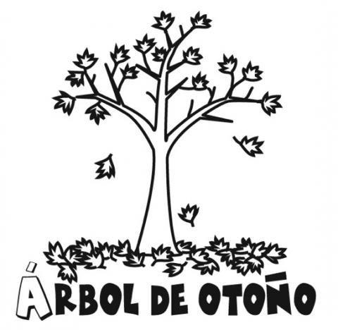Dibujos De árbol En Otoño Para Colorear Con Los Niños