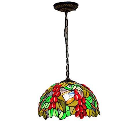 Lámparas De Estilo Tiffany De 12 Pulgadas De Vidrio Coloreado
