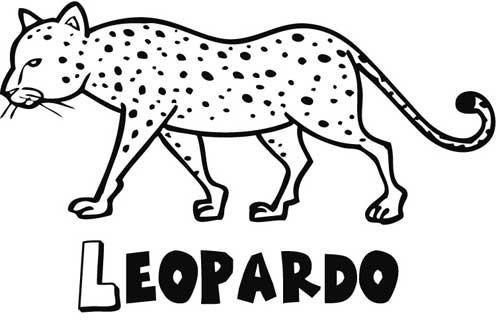 Imprimir  Leopardo  Dibujos Para Colorear