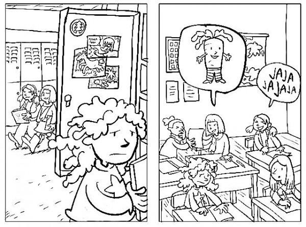 Dibujo De Bullyng Para Colorear