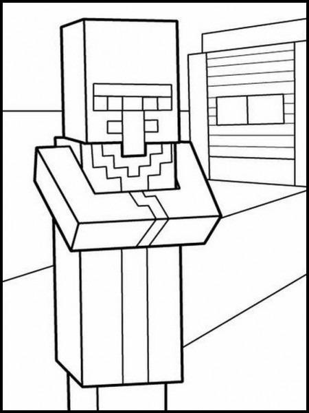 Dibujos Para Colorear  Dibujos Para Imprimir Y Pintar Minecraft 3