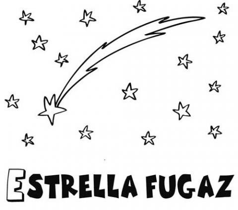 Dibujo De Una Estrella Fugaz Para Colorear  Dibujos Del Espacio