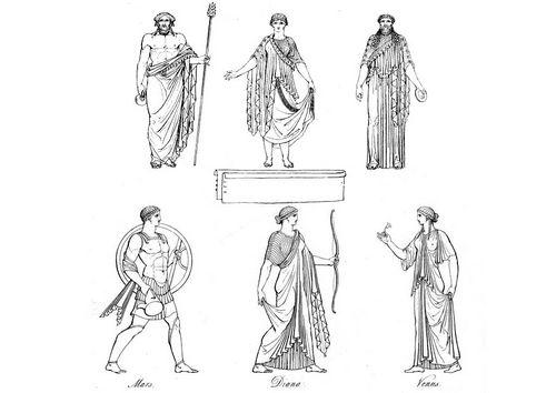 Dibujo Para Colorear Sacerdotes Griegos Y Dioses