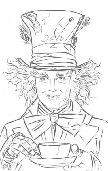 Mad Hatter ( Johnny Depp) In 'alice In Wonderland'