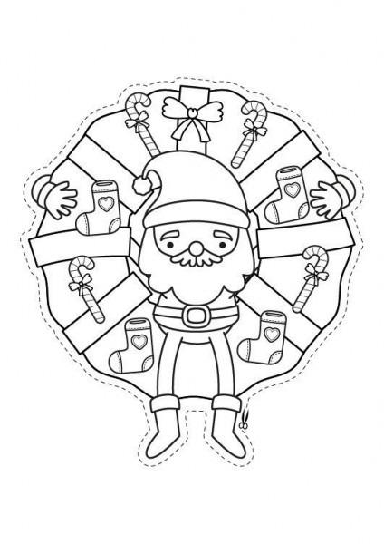 Corona De Navidad  Dibujo Para Colorear E Imprimir