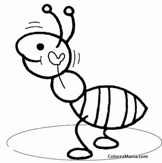 Colorear Hormiga Alzada (insectos), Dibujo Para Colorear Gratis