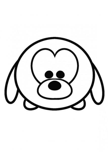 Disney Tsum Tsum Para Colorear Pluto