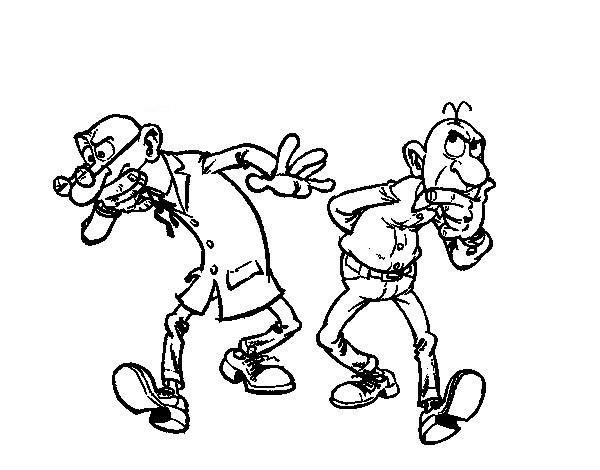 Mortadelo Y Filemon Dibujos Para Colorear Para Niños 7