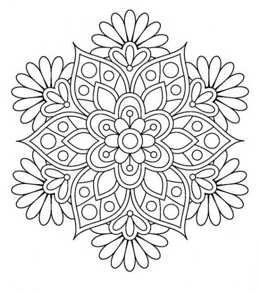 Mandalas Para Colorear Faciles Y Bonitas