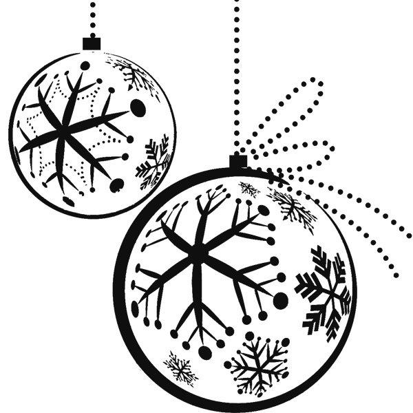 Dibujos De Navidad  Bola Navideña Para Colorear