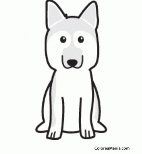 Colorear Silueta Perro Pastor Alemán (animales Domésticos), Dibujo