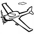 Dibujos Para Colorear De Avionetas