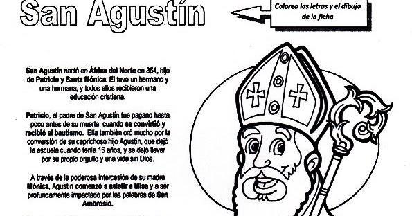 Parroquia La Inmaculada  San Agustín  Ficha Para Niños
