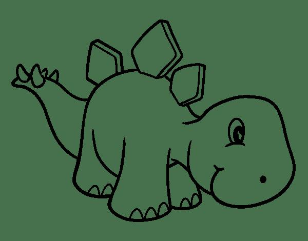 Dibujo De Estegosaurio Bebé Para Colorear