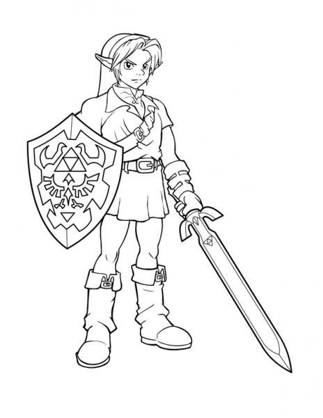 Coloriage 1 Dessin Zelda