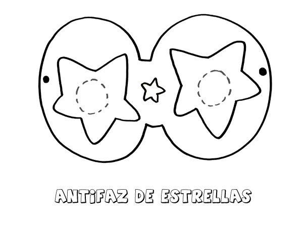 Antifaz De Estrellas  Dibujos Para Colorear Con Los Niños