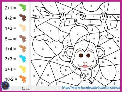 Colorea Por Por Sumas Y Números