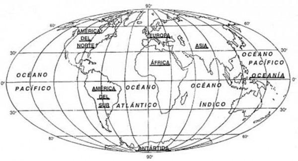 Resultado De Imagen Para Mapamundi Con Nombres Y Division Politica