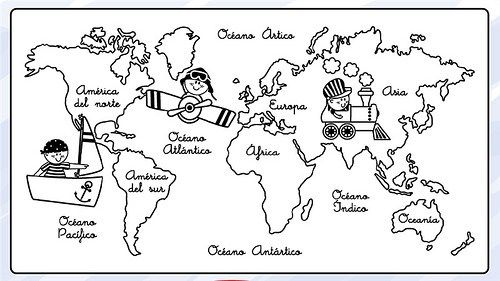 Dibujos De Mapamundi Para Colorear Para Niños