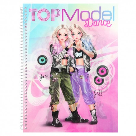 Top Model Cuaderno Para Colorear Dance