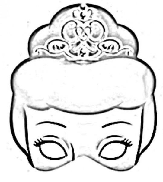 Mascaras De Princesas Para Imprimir, Pintar Y Recortar