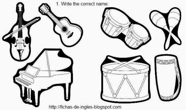 Resultado De Imagen Para Dibujo En Ingles Para Colorear Trumpet