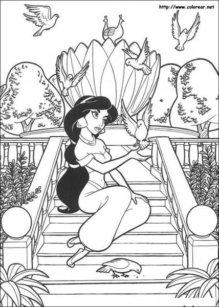 Dibujos De Aladdin Para Colorear En Colorear Net