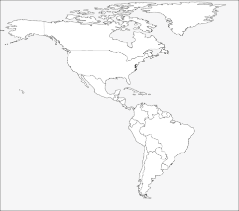 Dibujo De Mapa De América Para Colorear
