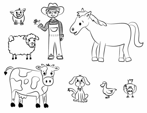 50 Dibujos De Granjas Y Animales Para Colorear