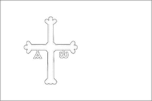 Bandera De Asturias Para Colorear